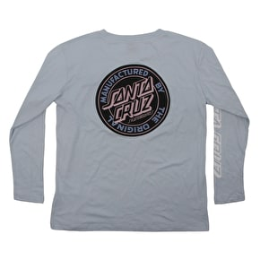 Santa Cruz Original Dot Longsleeve Womens T-Shirt - Arctic
