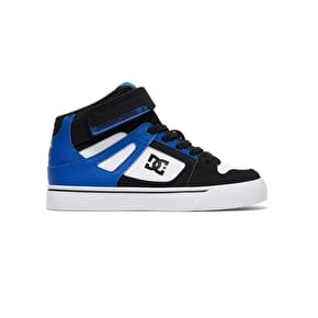 DC Spartan High EV Kids Skate Shoes - Black/White/Blue