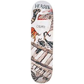 Heroin Enemy Ritual Skateboard Deck - Chopper 8.44