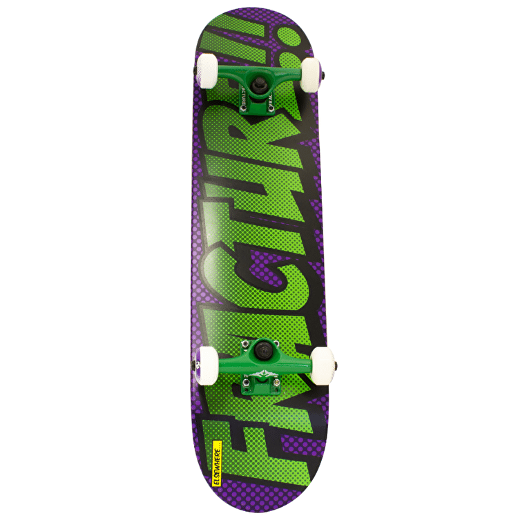 Fracture Comic 3 Skateboard - Purple/Green 7.5""