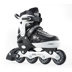 SFR Kids' Inline Skates - Pulsar Adjustable Silver
