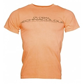 Global Technacolour Graphic T-Shirt - Orange To White