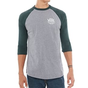 Vans Holder St Raglan T-Shirt - Heather Grey/Vans Scarab