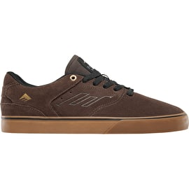Emerica The Reynolds Low Vulc Skate Shoes - Browning/Gum/Gold