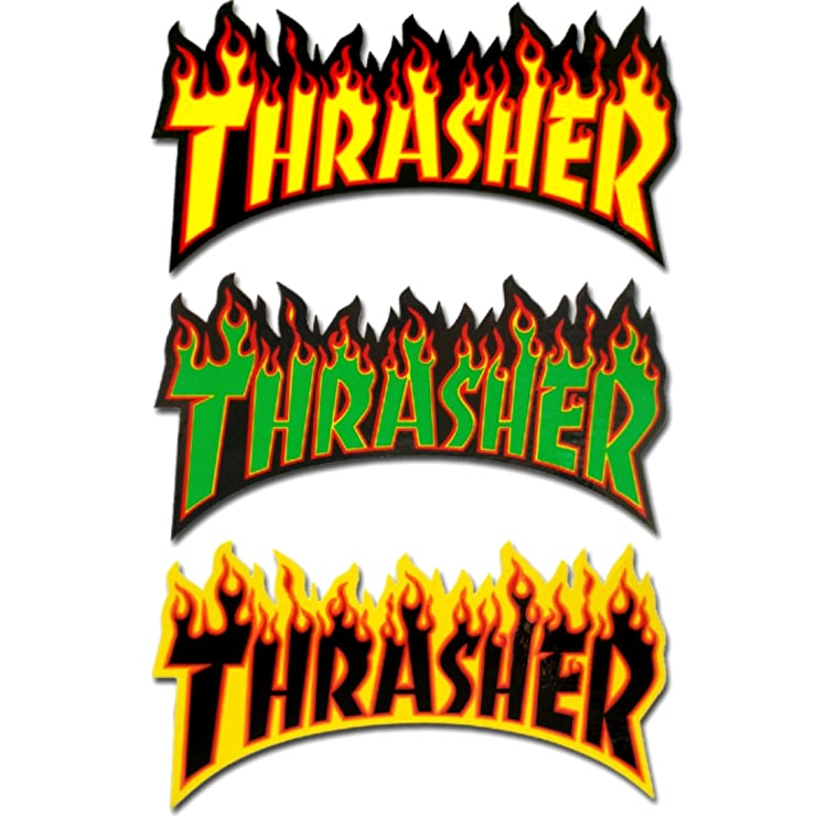 Thrasher Flame Logo Skateboard Sticker - Random