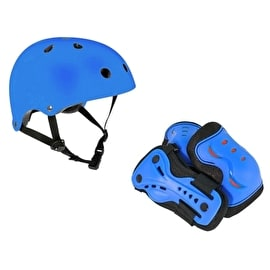 SFR Essentials Helmet & Pad Set Bundle - Blue