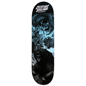 Creature Back To The Badlands Russell Skateboard Deck - Black/Blue 8.5