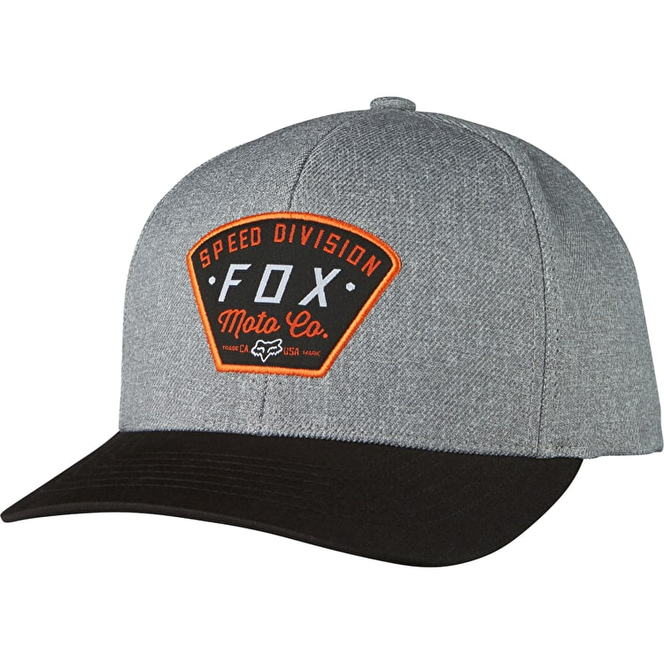 Fox Seek And Construct Snapback Cap - Heather Grey
