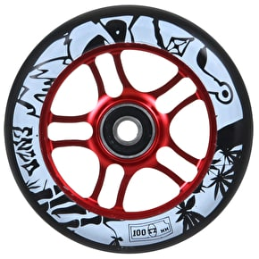 AO 100mm Enzo Scooter Wheel - Red