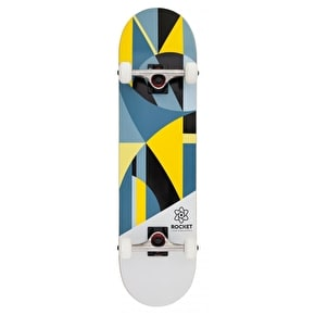 Rocket Eclipse Series Complete Skateboard - Grey/Yellow 8