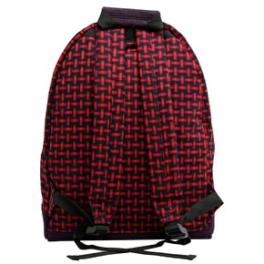 Mi-Pac Backpack - Basket Weave Navy/Red