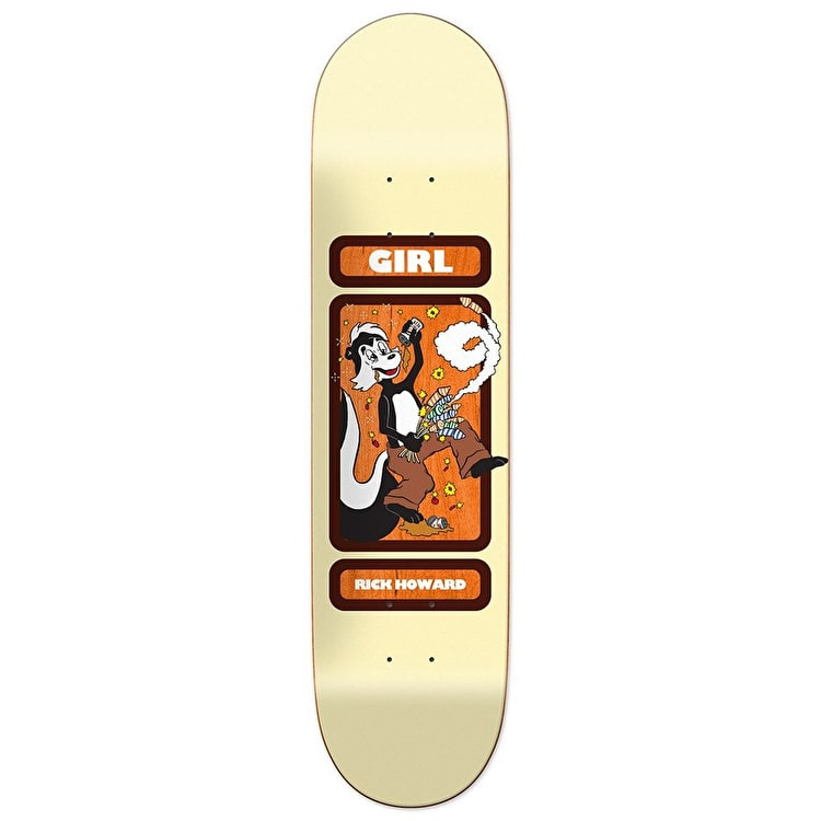 Girl Off'S - Drunk Skunk - Rick Howard Skateboard Deck 8.5""