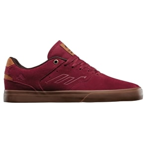 Emerica Reynolds Low Vulc Skate Shoes - Burgundy/Gum