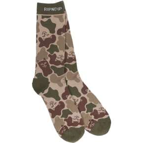 RIPNDIP Nerm Camo Socks - Army Green