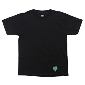 SkateHut Hut Dot Logo Kids T-Shirt - Black/Camo