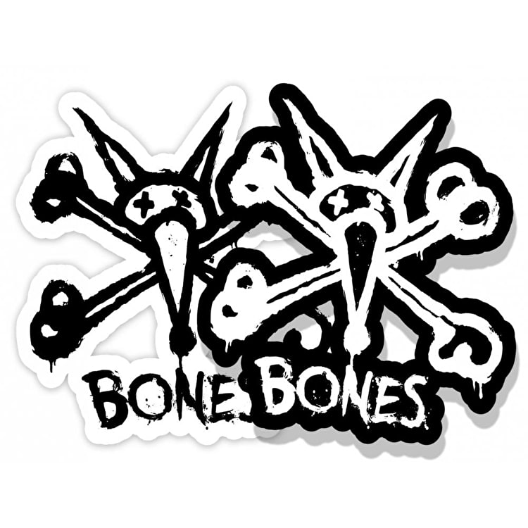 Bones Wheels Vato Stacked Skateboard Sticker - 3""