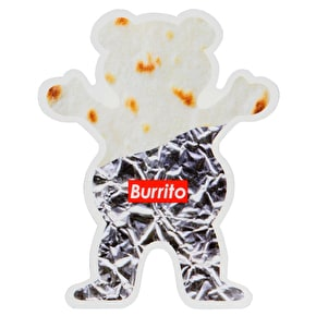Grizzly Joey Buritto Bear Sticker