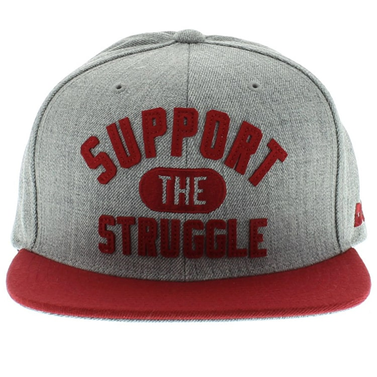 DGK Support Snapback Cap - Grey/Red