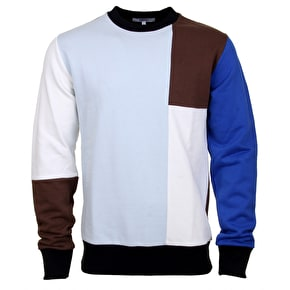 WeSC Miles Blocked Crewneck - Ballad Blue