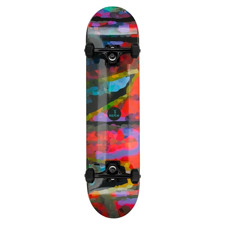 Ridge Motif Colourflage Complete Skateboard - 8""