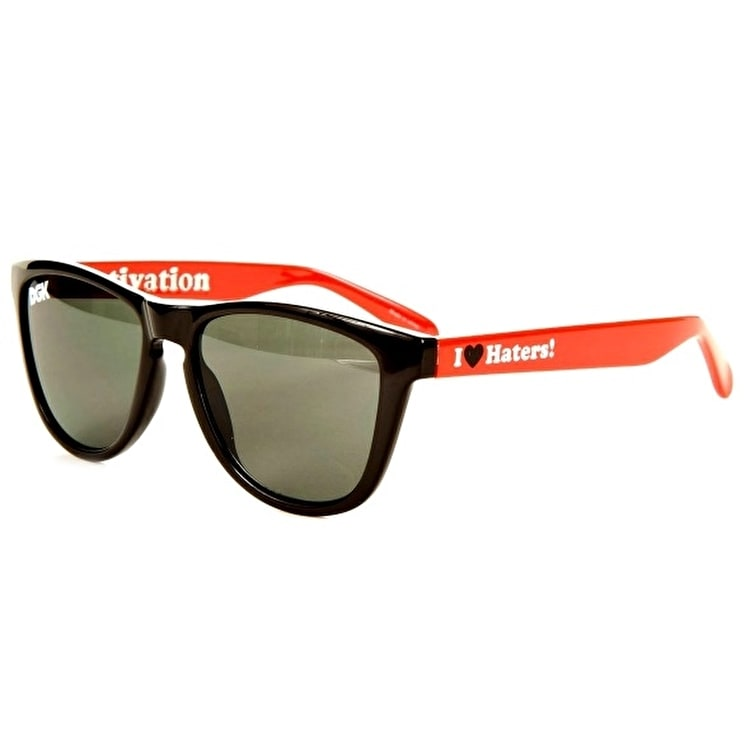 DGK Haters Two Tone Sunglasses - Red/White