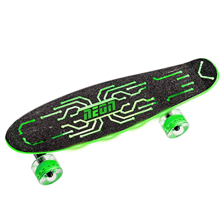 Neon Hype Light Up Complete Skateboard - Green