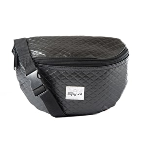 Spiral Harvard Bum Bag - Quilted Black