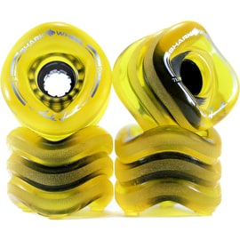 Shark Wheel Sidewinder 70mm 78a Longboard Wheels - Clear Yellow