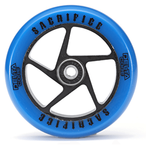 Sacrifice Delta Core 110mm Scooter Wheel w/Bearings - Royal Blue/Black SECONDS