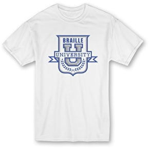 Braille University T-Shirt - White