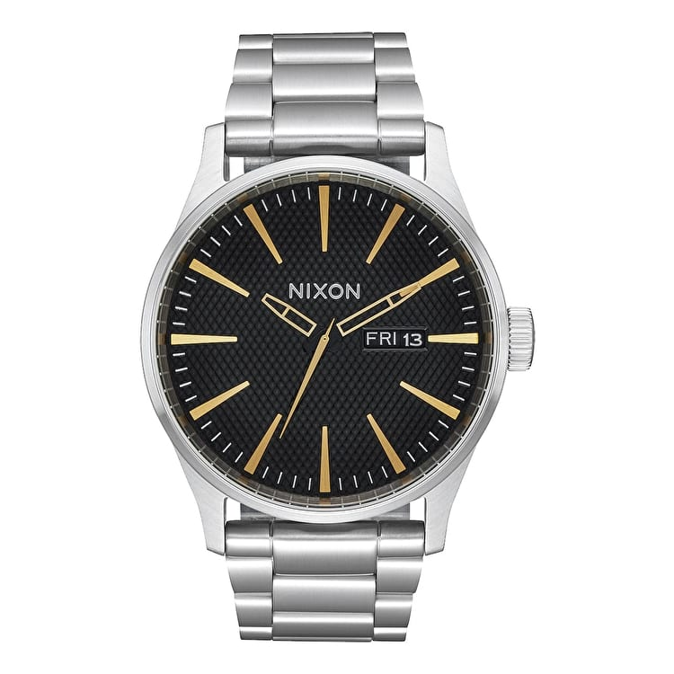 Nixon Sentry SS Watch - Black Stamped/Gold