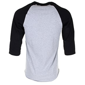 DGK Venom 3/4 Sleeve Raglan T-Shirt - Athletic Heather/Black