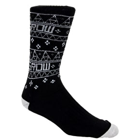 Organika Grow Crew Socks - Black