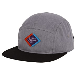 Braille Five Panel Cap - Grey/Black