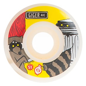 Force Giger Raccoon Skateboard Wheels - 51mm
