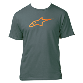 Alpinestars Ageless Classic T-Shirt - Charcoal/Orange