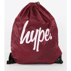Hype Gym Bag - Burgundy/White