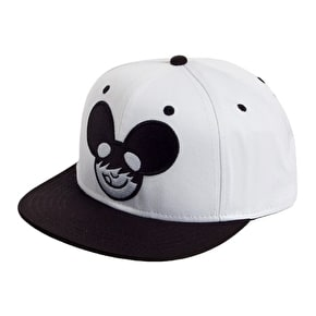 Neff Mau5 Icon Snapback - White / Black (B-Stock Medium Soiled)