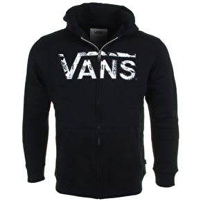 Vans Classic Kids Zip Hoodie - Black/Checkered Past