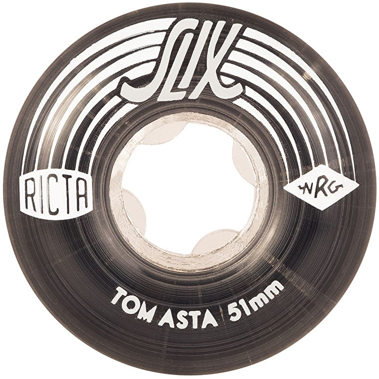 Ricta Tom Asta Crystal Slix 99a Skateboard Wheels - Clear/Black 51mm