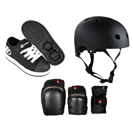 Heelys X2 Fresh - Black/White Bundle