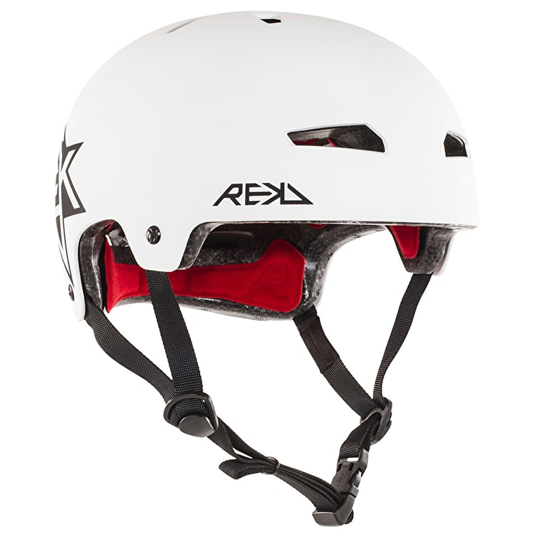 REKD Elite Icon Helmet - White/Black
