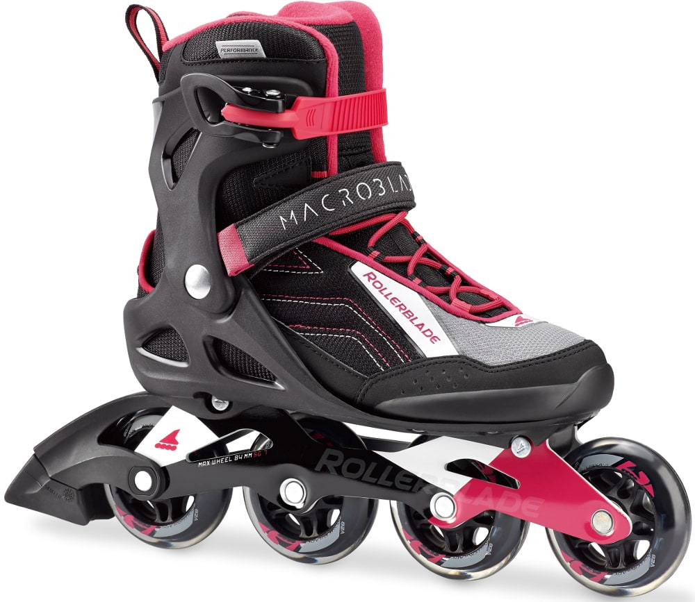 Roller skate shoes malaysia - Free Next Day Rollerblade 2017 Macroblade 80w Roller Blades Black Cherry