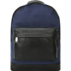 Mi-Pac Canvas Tumbled Backpack - Navy/Black