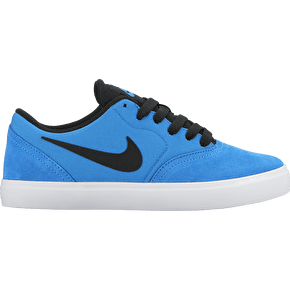 B-Stock Nike SB Check (GS) Kids Shoes - Photo Blue/Black UK 5 (Loose Stitching)