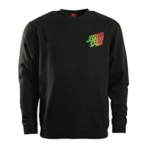 Santa Cruz Crewneck - Rasta Stack Black