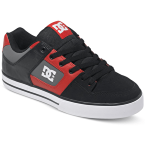 DC Pure Shoes - Black/Athletic Red