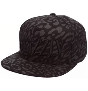 Grizzly Trippy Trail Snapback Cap - Black