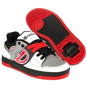 B-Stock Heelys Flow - White/Black/Grey/Red - UK 6 (slight crease)
