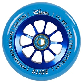 River Glides Pro Scooter Wheel 110mm - Blue/Blue